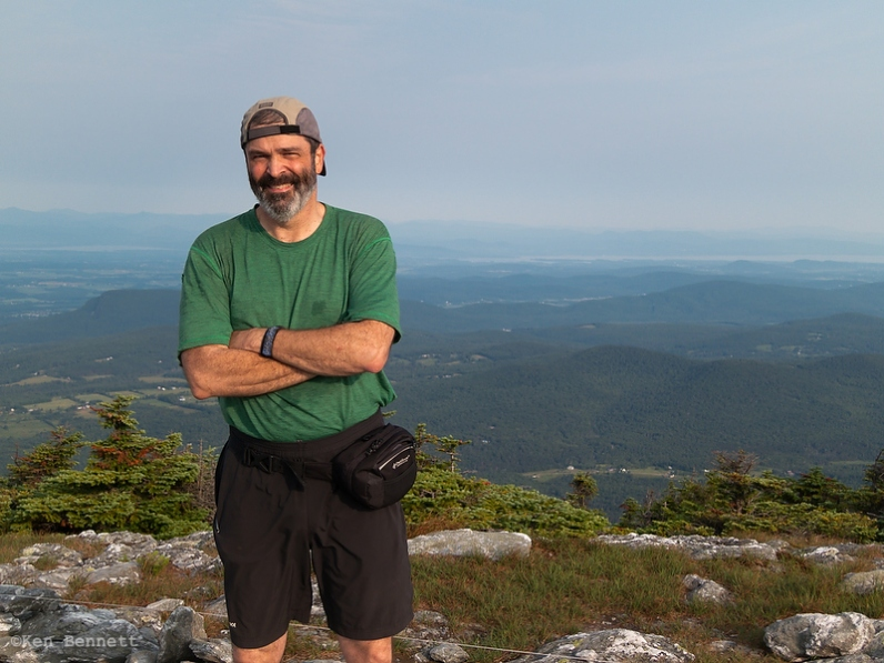 BC on the top of Mt. Abraham.