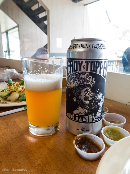 Local Vermont craft beer at The Mad Taco (highly recommended.)