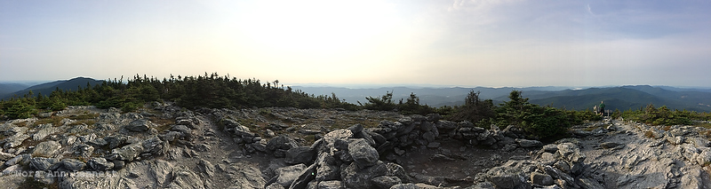 A panoramic image from the top of Mt. Abraham.