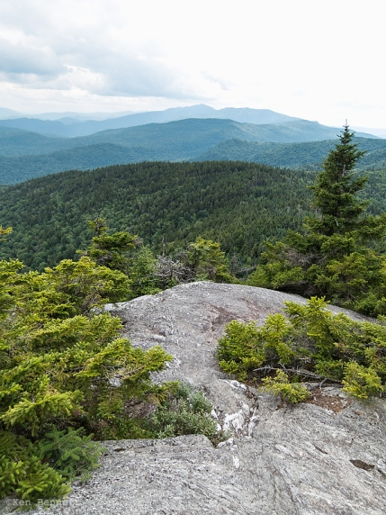 A nice view from the summit of Burnt Rock Mountain.