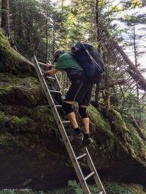 BC descends into Ladder Ravine.