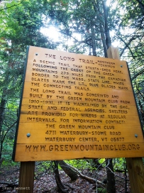 Sign at the northern terminus of the Long Trail.