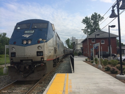 The Vermonter, an Amtrak train running from St. Albans, VT, to Washington, DC.