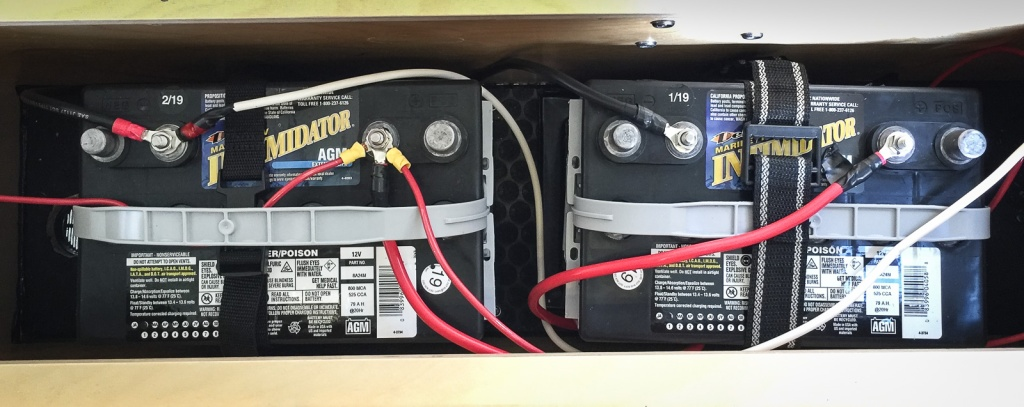 Batteries in the trailer.